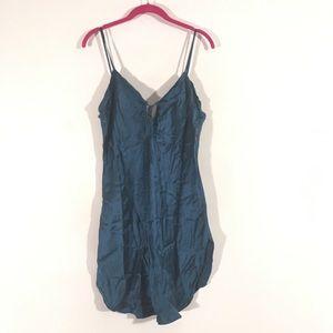 Victoria's Secret Blue Silk Slip Negligee M